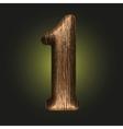 Wooden figure vector