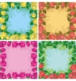 Backgrounds frames from flowers vector