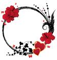 Valentine floral frame vector