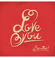 Happy valentines day hand lettering in retro style vector