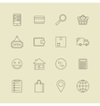 Navigation buttons for online internet store vector