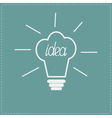 Idea light bulb in shape of chef hat flat design s vector