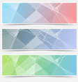 Modern abstract crystal structure cards set vector