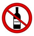 No vodka bottle sign vector