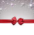 Christmas starry background with ribbon vector