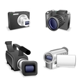 Camera set vector