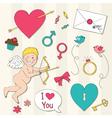 Valentines symbols vector