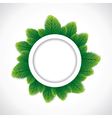 Green round leaf border vector