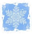 Blue grunge snowflake vector