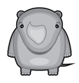 Cartoon of a baby rhino vector