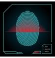 Fingerprint scanning and identification vector