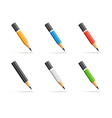 Pencils icon set vector