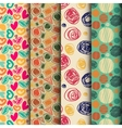 Set of seamless abstract pattern in retro style vector