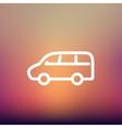 Van transport thin line icon vector