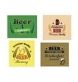 Beer advertising posters vector