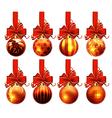 Christmas ornaments vector