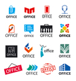 Big set of logos office vector