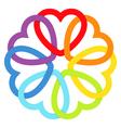 Rainbow connected hearts vector