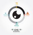 Infographics eye design diagram line style vector
