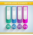 Infographic elements in flat colors vector