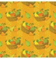 Seamless pattern baskets and fruits pears vector