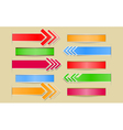 Set of arrows and banners with paper cuts and vector