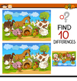 Find differences cartoon game vector
