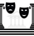 Silhouettes of masks vector