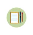 Notebook icon vector