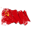 Soviet union flag grunge vector