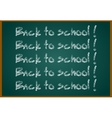 Back to school concept text on chalkboard vector