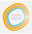 Rainbow abstract round curve frame template text vector