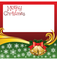 2012 christmas card with jingle bells vector