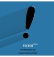 The exclamation point flat modern web button with vector