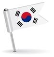 South korea pin icon flag vector