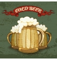 Retro style poster for cold beer vector