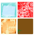 Collection of grunge backgrounds vector