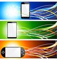 Smartphone banners vector