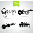 Music silhouette set vector