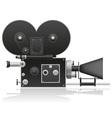 Old movie camera 01 vector