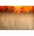 Background autumn big top leavesred vector