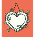 Heart wooden frame vector