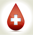 Drop of blood with cross vector