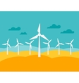 Wind energy power plant in flat style vector