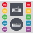 Computer keyboard icon set colourful buttons vector