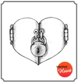 Concept heart on valentines day vector