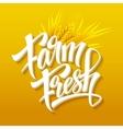 Farm fresh calligraphic inscription vector