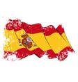 Spain flag grunge vector