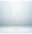 Graph icon in light studio room vector