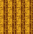 Seamless pattern with branches and leaves vector
